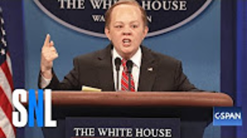 Sean Spicer Returns - SNL - Duration: 8 minutes, 1 second.